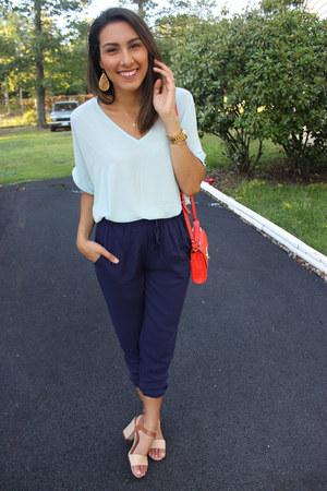 light blue francescas shirt - carrot orange cross body Target bag