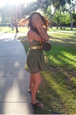 forever 21 dress - Wet Seal belt - Louis Vuitton purse - kohls shoes