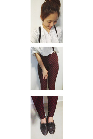 ruby red no name pants - white white shirt 2nd hand shirt shirt