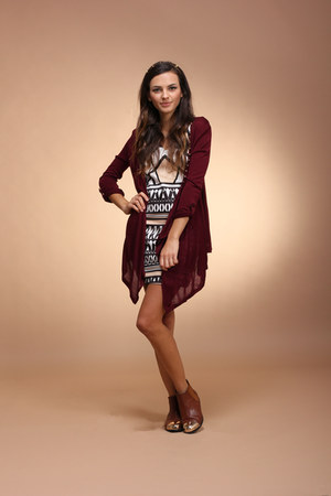 West 36th cardigan - ecote boots - West 36th dress