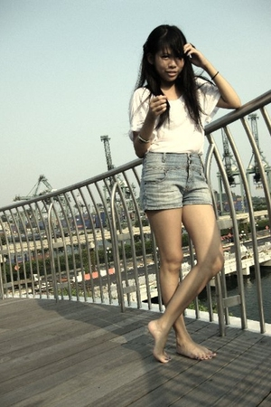 Forever21 top - fourskins shorts