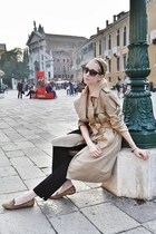 light brown RED valentino coat - black joe fresh style sunglasses