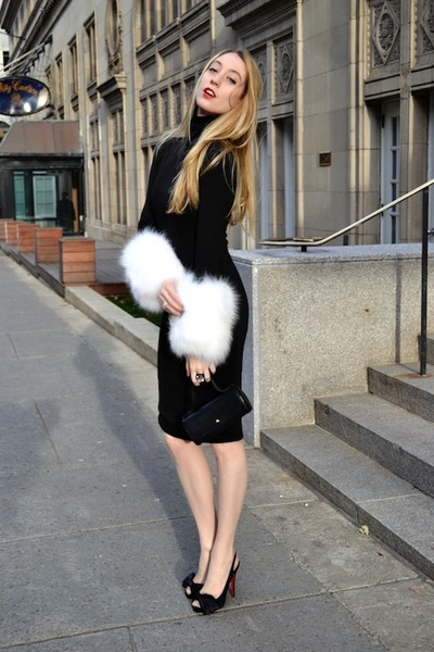 black MASABNI dress - black Christian Louboutin heels