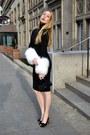 Black-masabni-dress-black-christian-louboutin-heels