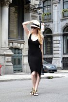 black Michael Eardley dress - beige Michael Stars hat