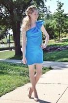 blue Jay Godfrey dress - beige Christian Louboutin heels