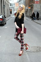 ruby red le chateau pants - black Victorias Secret blazer