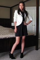 Priorities blazer - Forever 21 dress - Steve Madden boots