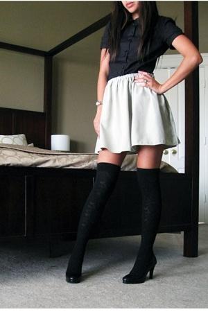 H&M blouse - handmade skirt - Target socks