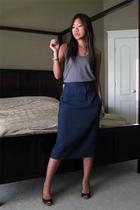 vintage skirt - Forever21 top
