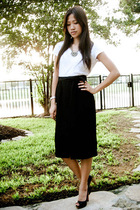 kohls t-shirt - vintage skirt - Forever 21 necklace - Christian Louboutin shoes