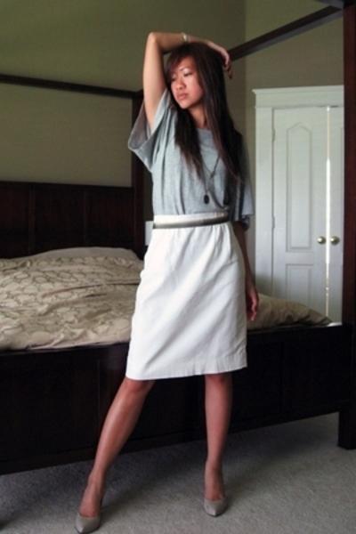 Target sweater - vintage skirt - BCBG shoes