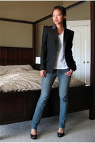 queenswardrobe blazer - Marshalls jeans - kohls t-shirt - Jessica Simpson shoes