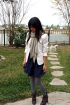 handmade skirt - petite sophisticate blazer - Target tights - seychelles boots