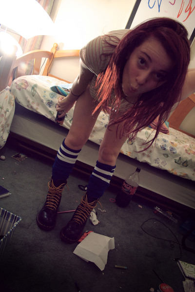 American Apparel socks - doc martens boots - Urban Outfitters shirt