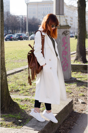 duster asos coat - backpack Even&Odd bag - stan smith Adidas sneakers