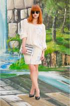 set MiiA sweater - holographic Rebecca Minkoff bag