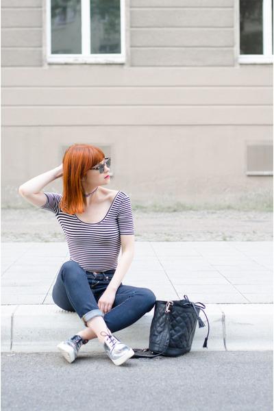 Striped-american-apparel-top