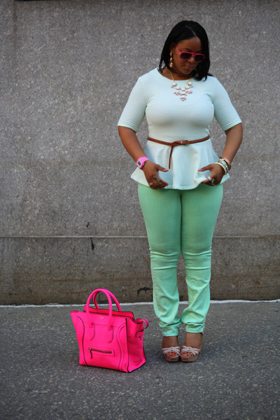 Hot Pink Celine Bags, Aquamarine High Waist BDG Via Urban ...