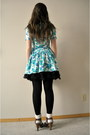 Light-blue-beacons-closet-nyc-dress-black-forever-21-skirt-brown-h-m-shoes