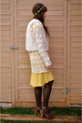 Yellow-forever-21-dress-ivory-crochet-moms-closet-sweater-brown-wedges-h-m-w
