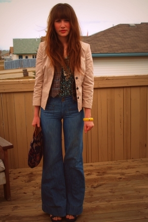 H&M blazer - winners jeans - moms accessories - forever 21 purse - Value Village