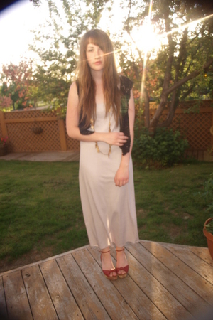 Value Village dress - Urban Outfitters vest - Value Village shoes - Aldo necklac