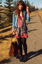 DKNY jacket - handmade dress - forever 21 vest - Value Village shoes - H&M purse