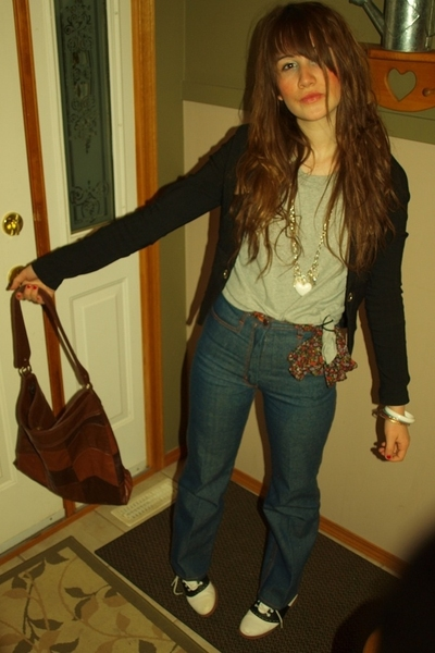 Old Navy shirt - pelican cove blazer - jeans - coaster shoes - H&M purse