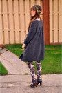 Charcoal-gray-boutique-dress-gray-sweater-winners-sweater-light-purple-ozone