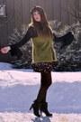 Chartreuse-forever-21-vest-bubble-gum-winners-skirt-black-vintage-booties-vi