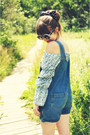 Light-blue-blouse-vintage-blouse-black-choies-sunglasses-choies-bodysuit