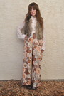 Ivory-moon-blouse-light-brown-forever-21-pants-dark-brown-faux-fur-blue-note