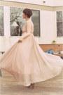 Light-pink-gown-wwwsheinsidecom-dress-pink-faux-fur-forever-21-jacket