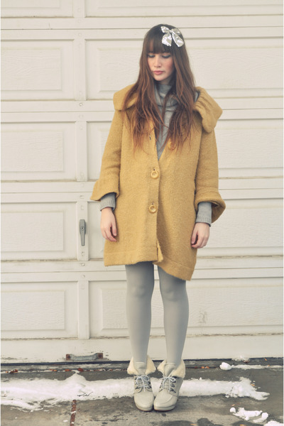 wool sweater moms closet sweater - sweater dress Value Village thrifted dress