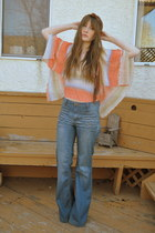 salmon Forever 21 blouse - sky blue Forever 21 jeans