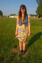 DOTS vest - DOTS dress - Zara boots - Eddie Bauer belt