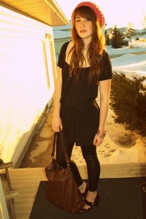 Hot Topic hat - winners dress - winners leggings - H&M purse - joefresh shoes