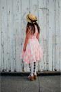 Bubble-gum-gingham-chicwish-dress-nude-value-village-hat