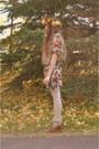 Bronze-handmade-by-me-hat-purple-mama-stone-vintage-dress