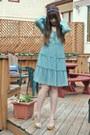 Sky-blue-vintage-dress-h-m-dress-white-wedges-aldo-wedges