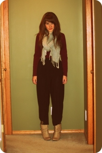 joe fresh style shirt - H&M scarf - vintage pants - Zara shoes