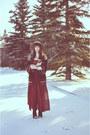 Light-brown-topshop-hat-crimson-zara-sweater-crimson-long-skirt-oasap-skirt