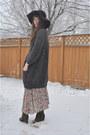 Value-village-thrifted-dress-hat-floppy-hat-jessica-simpson-hat-sweater-winn