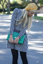 vintage dress - Forever 21 hat - Forever 21 tights - vintage purse