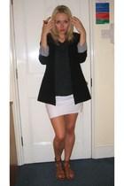 Zara blazer - American Apparel skirt - sam edelman shoes