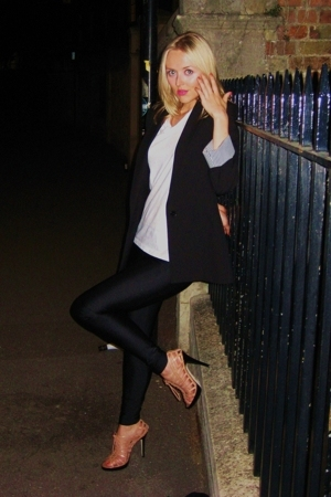 Zara jacket - Hanes t-shirt - American Apparel leggings - asos shoes