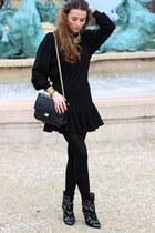 Isabel Marant boots - Chanel bag - Zara skirt