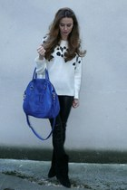 SANDRO sweater - Isabel Marant boots - Kookai bag