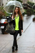 SANDRO coat - balenciaga bag - Isabel Marant sneakers